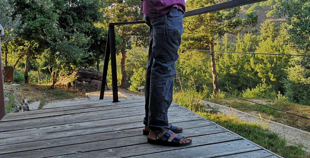Men's sandals and pants