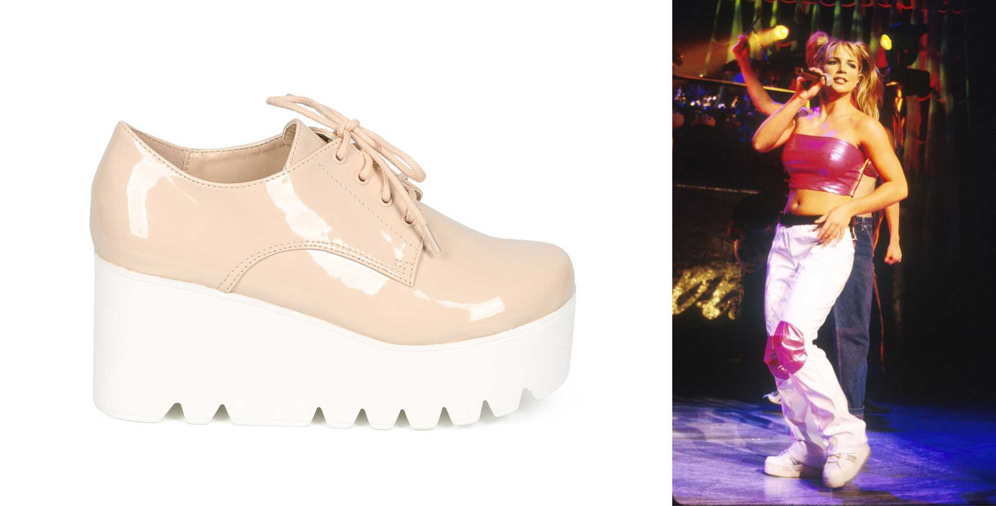 Platform shoes - 1990s women shoes