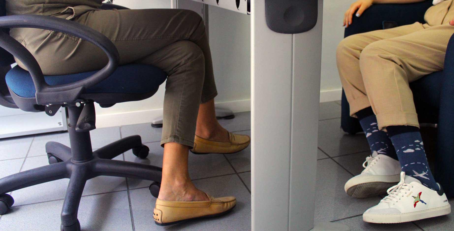 Funky socks in job interviews - great conversation starters