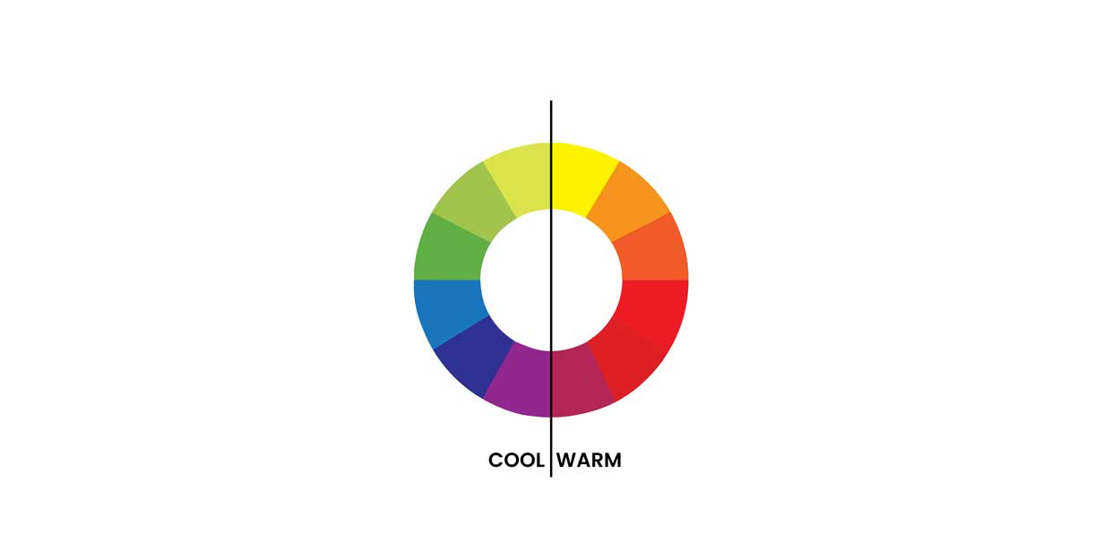 Color temperatures - cool and warm colors