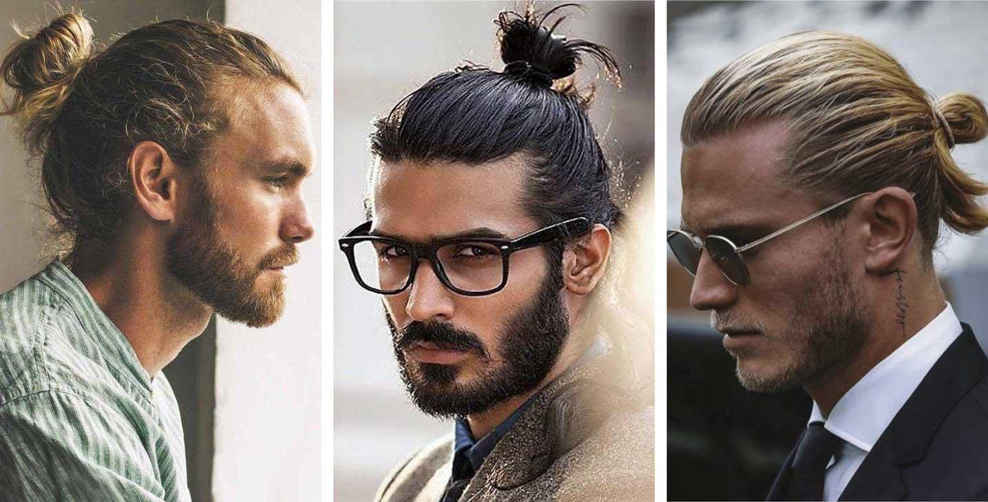 Man bun - 2021 men's hairstyle