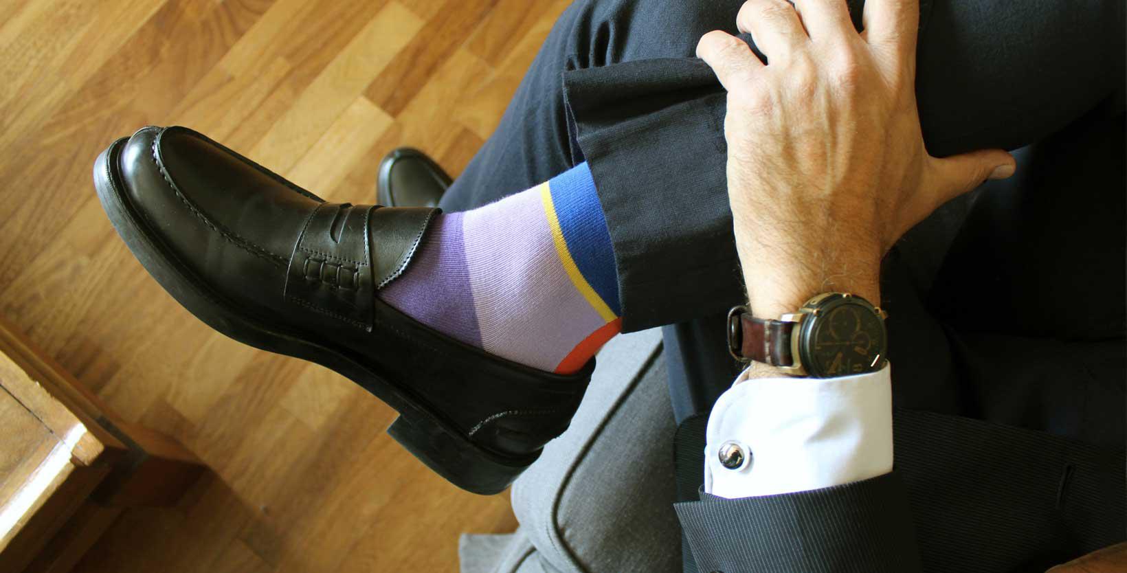 Funky socks during job interviews