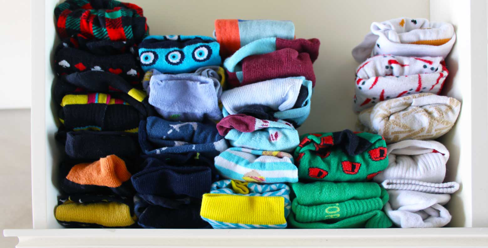 Organize sock drawer by color