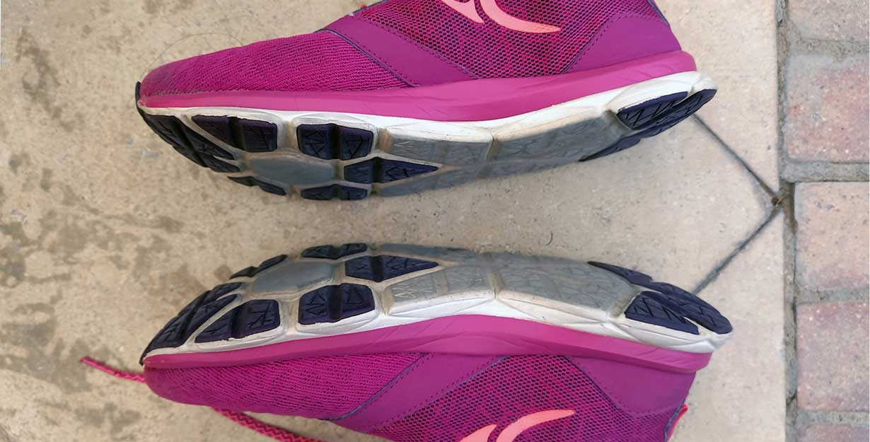 Running shoes - slipping