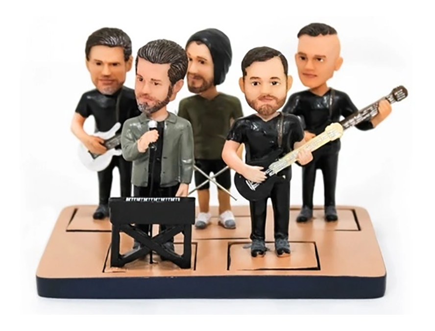 A group of bobblehead musicians.