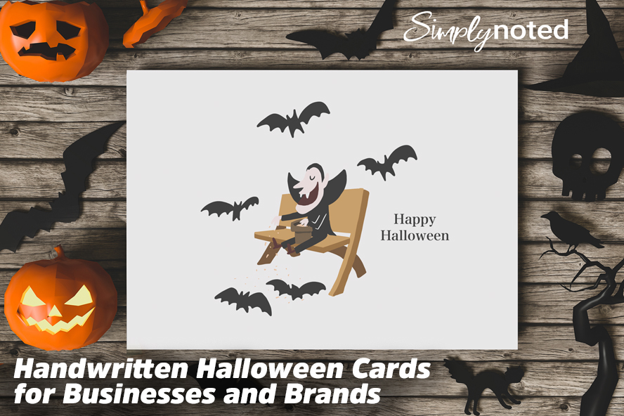 Handwritten Halloween Cards for Businesses and Brands