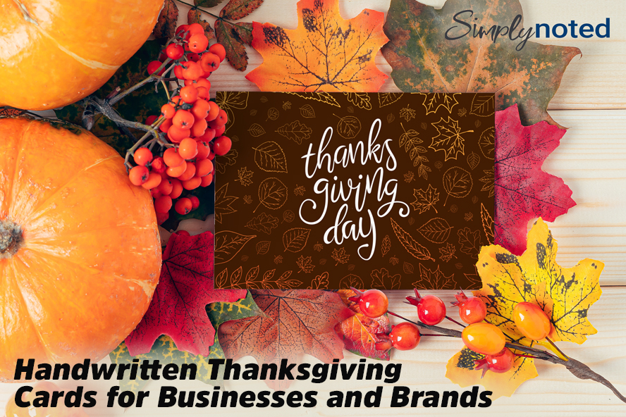 Handwritten Thanksgiving Cards for Businesses and Brands