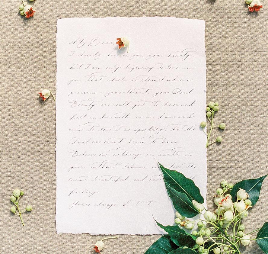 A lovely handwritten letter.