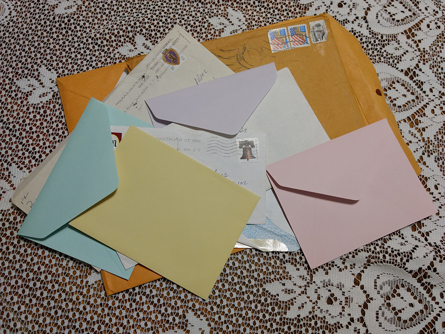 A bunch of opened letters