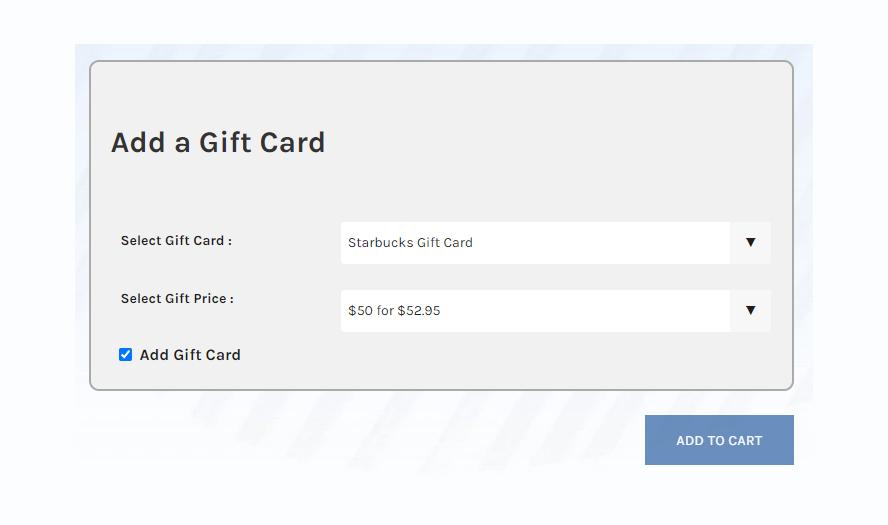 Add a gift card