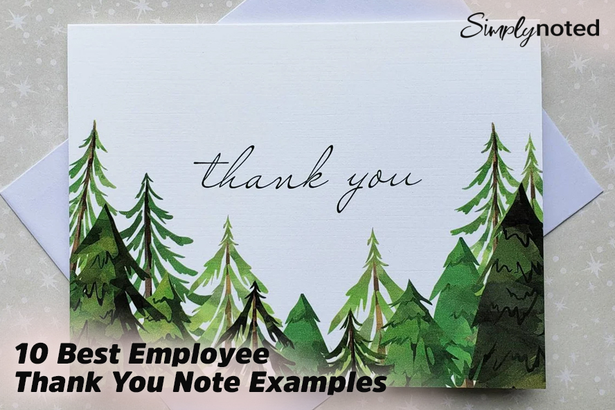 10 Best Employee Thank You Note Examples
