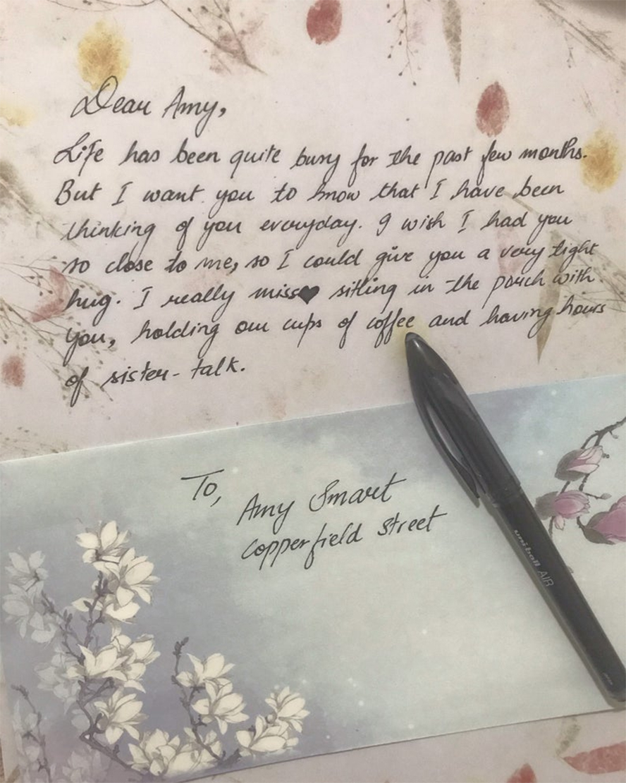 Another lovely, calligraphic handwritten letter.