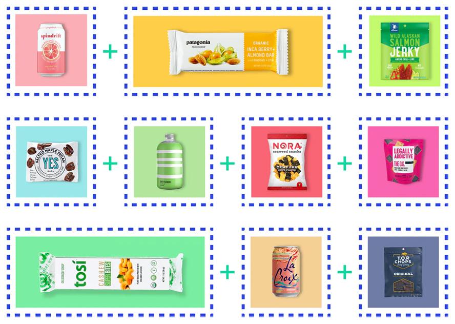 A custom arrangement of gift basket items.