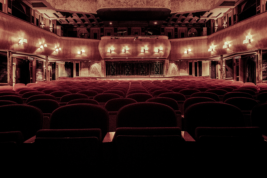 A large, fancy theater.