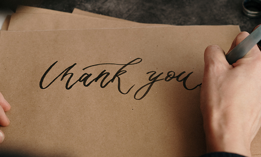 Send Out Personalized Thank You Notes