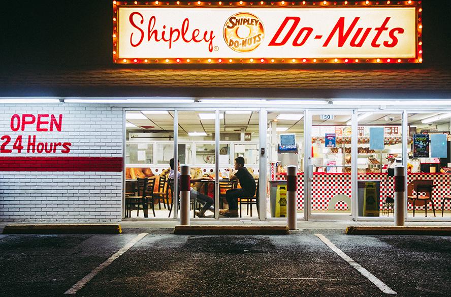 A local donut shop exterior.