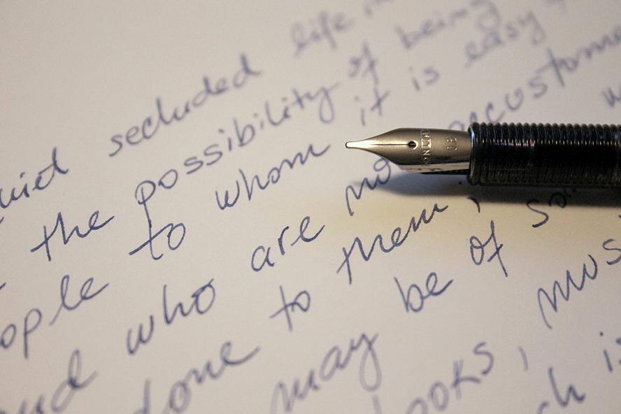 A close up of human handwriting.