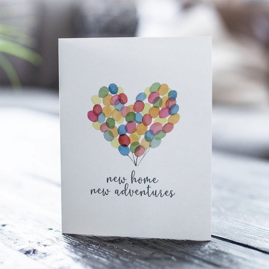 A card welcoming someone to a new home.