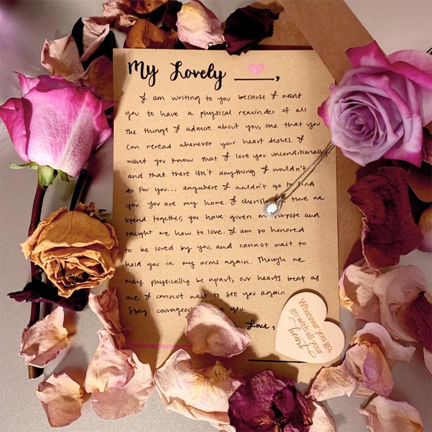 A handwritten letter of love.