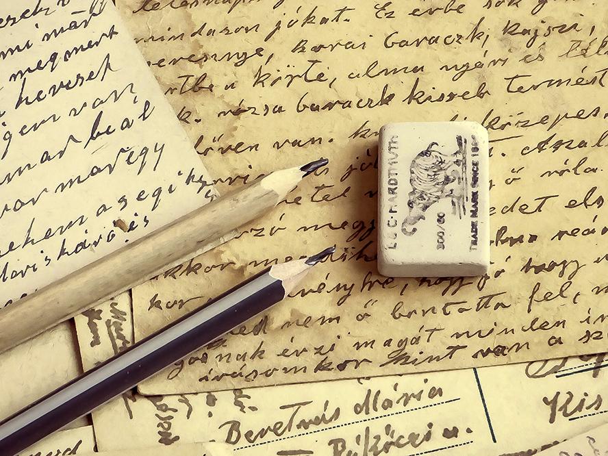 A smattering of handwritten letters.