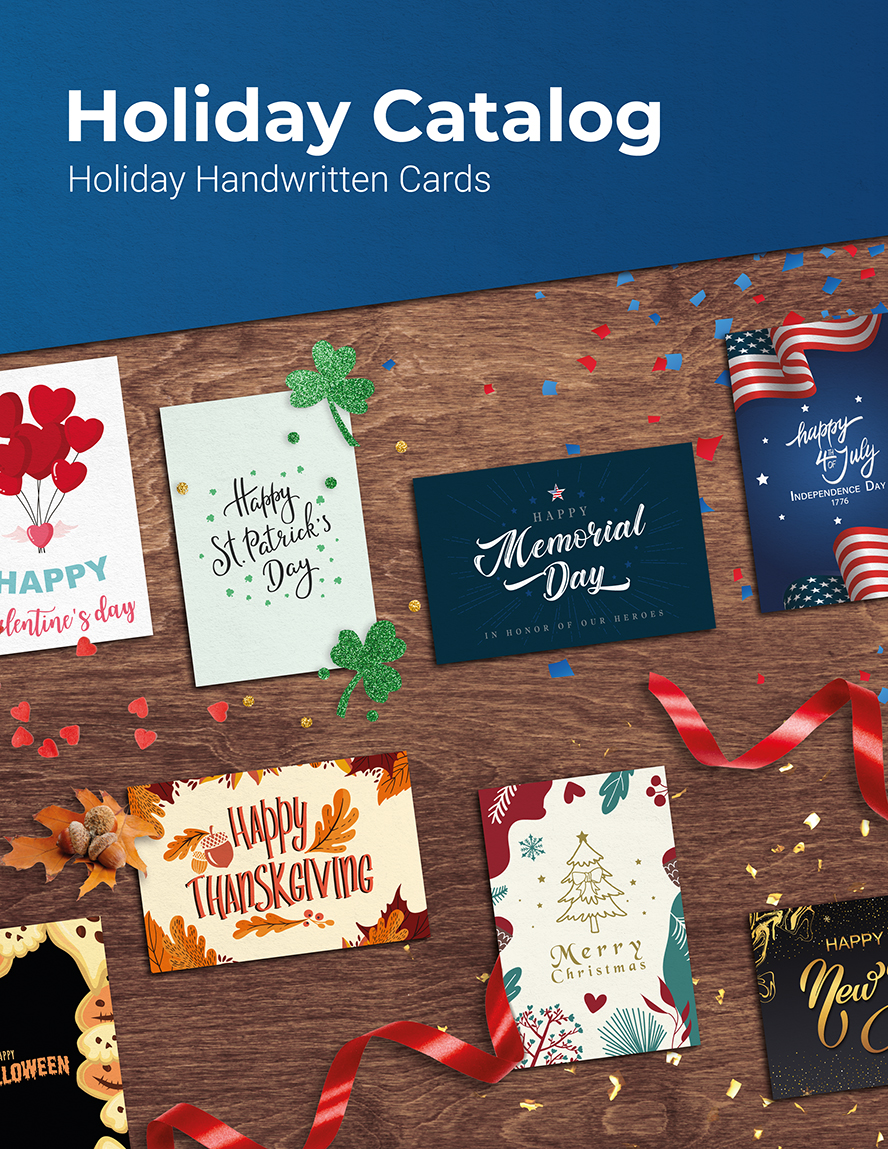 The cover of the Simply Noted Holiday Catalog.