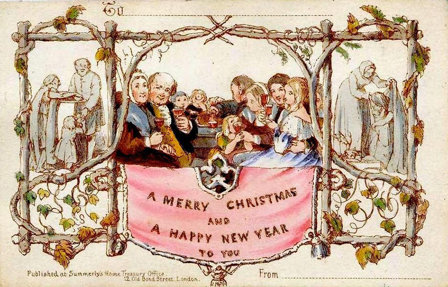 The first printed Christmas card