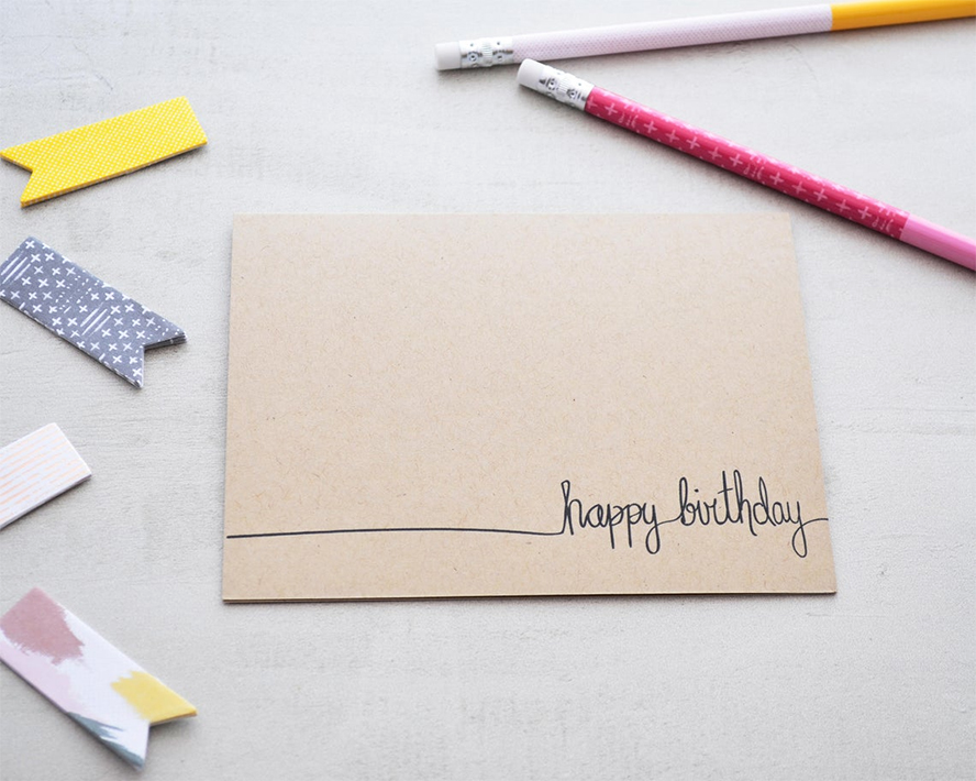 Close up of a birthday card.