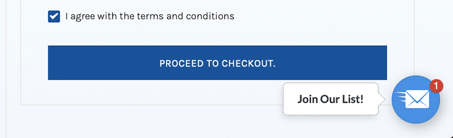 This is a closeup of the Proceed to Checkout button.