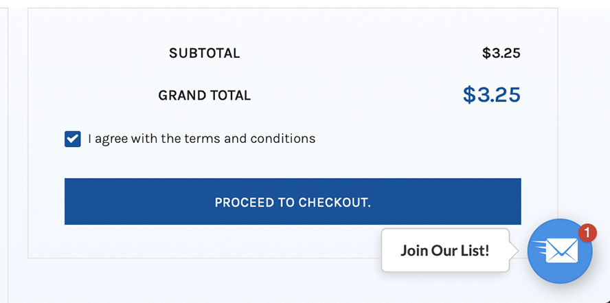 Proceed to Checkout button