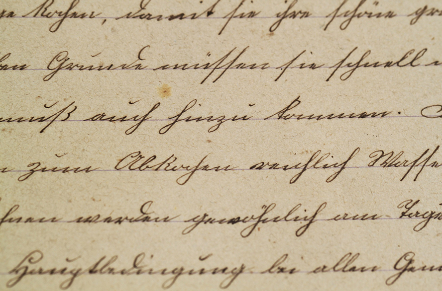 Another close up handwriting sample.