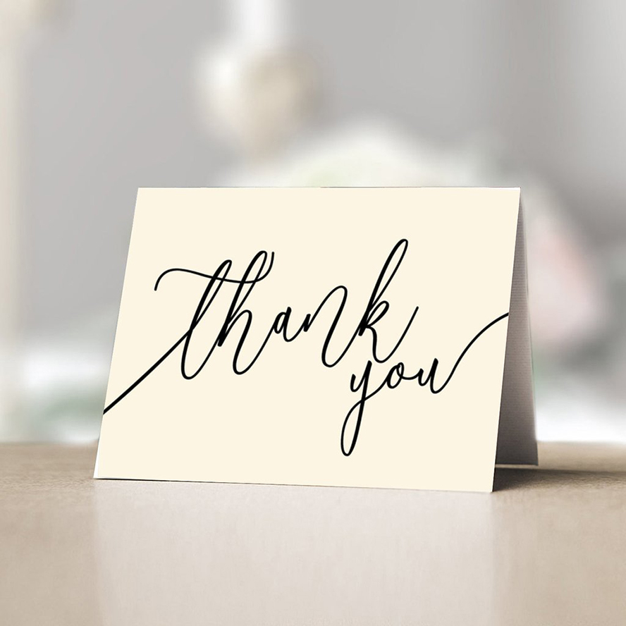 Thank you card with a simple thank you
