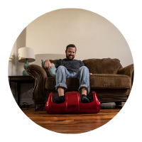 Slabway's product for foot and muscle pain relief, the shiatsu massager with heat is also great for mental health