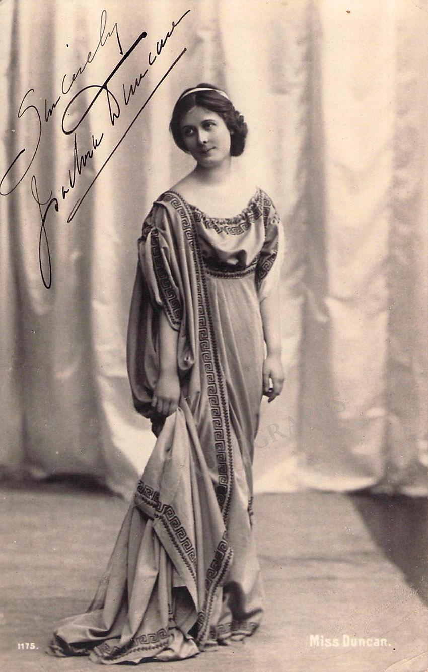 Duncan, Isadora - Signed Photo in Costume