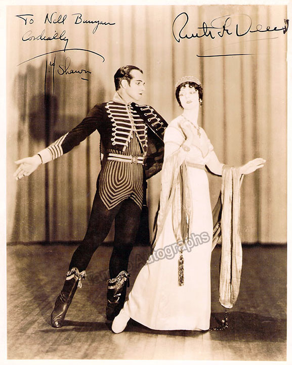 Ruth St. Denis and Ted Shawn - Double Signed Photo in Josephine et Hippolyte