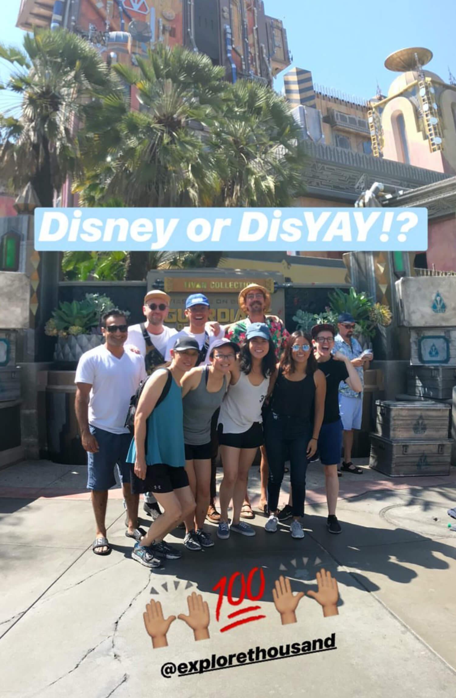 Team Thousand group photo at Disney