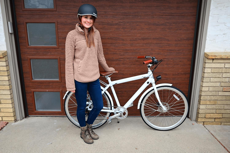 Mandy with her new Story Bikes Bike