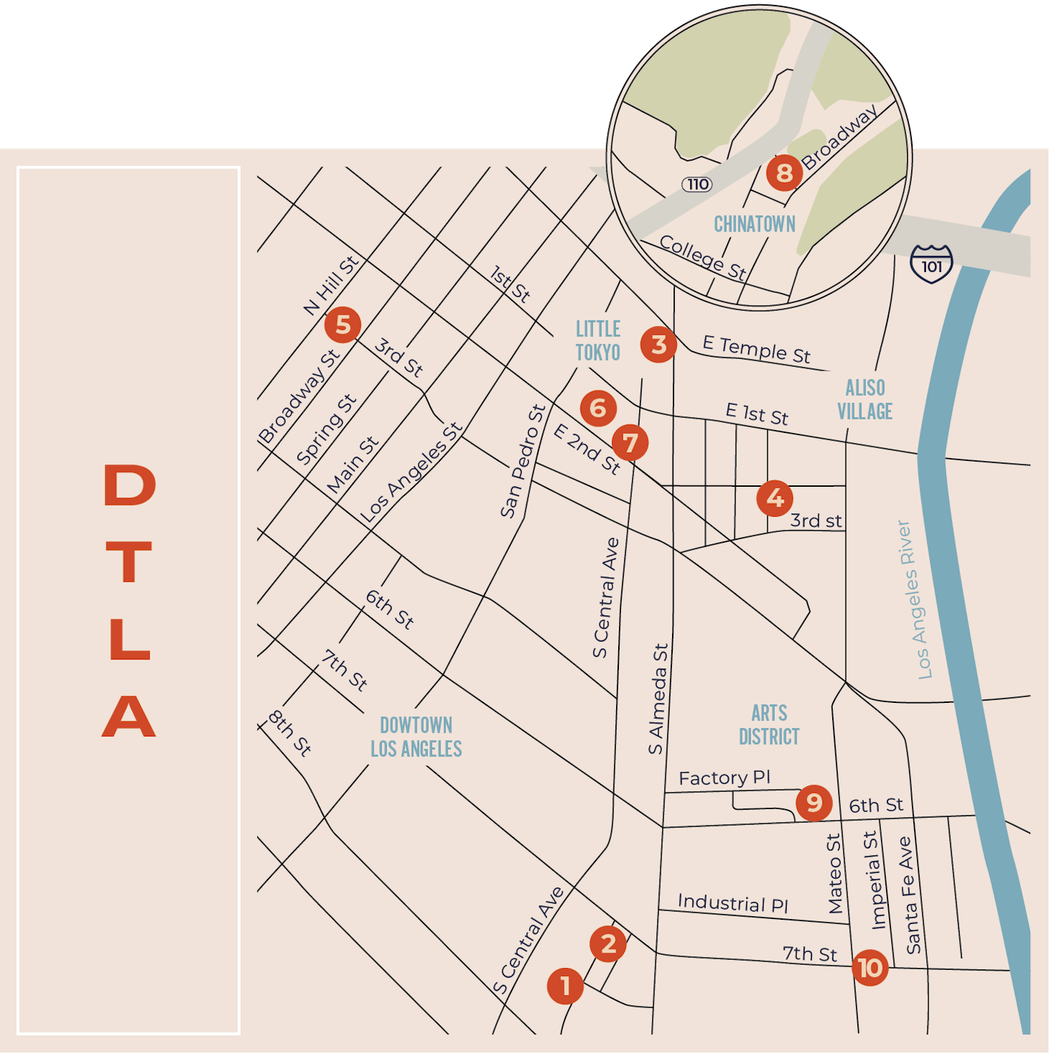 Downtown Los Angeles Map