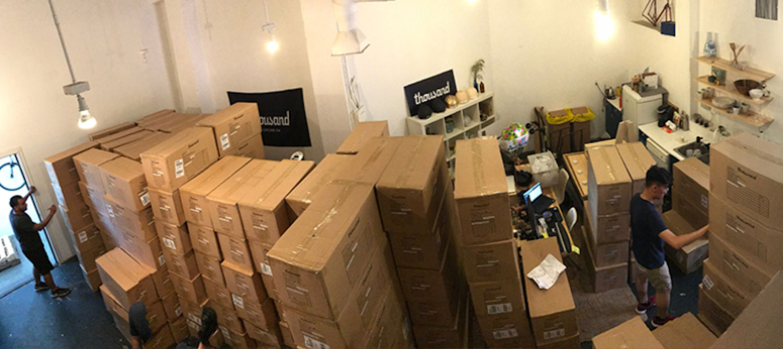bike helmet boxes in office