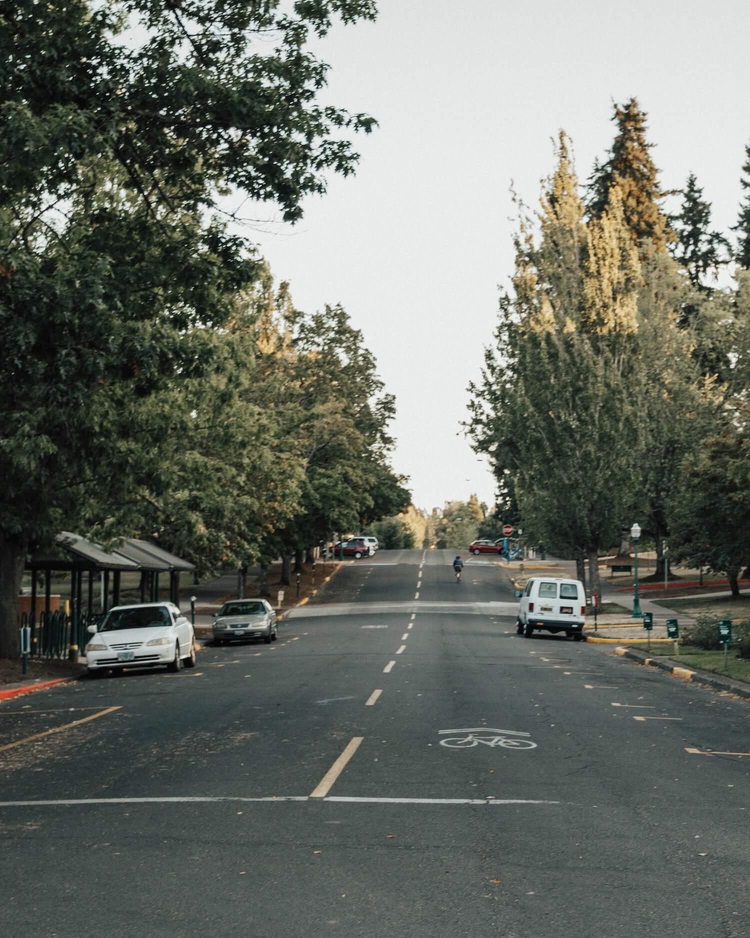 biking in Eugene