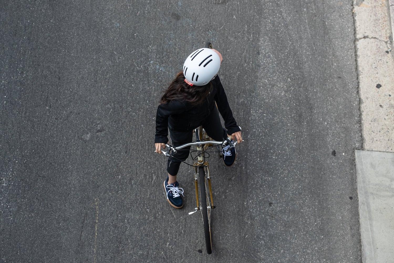 white bike helmet
