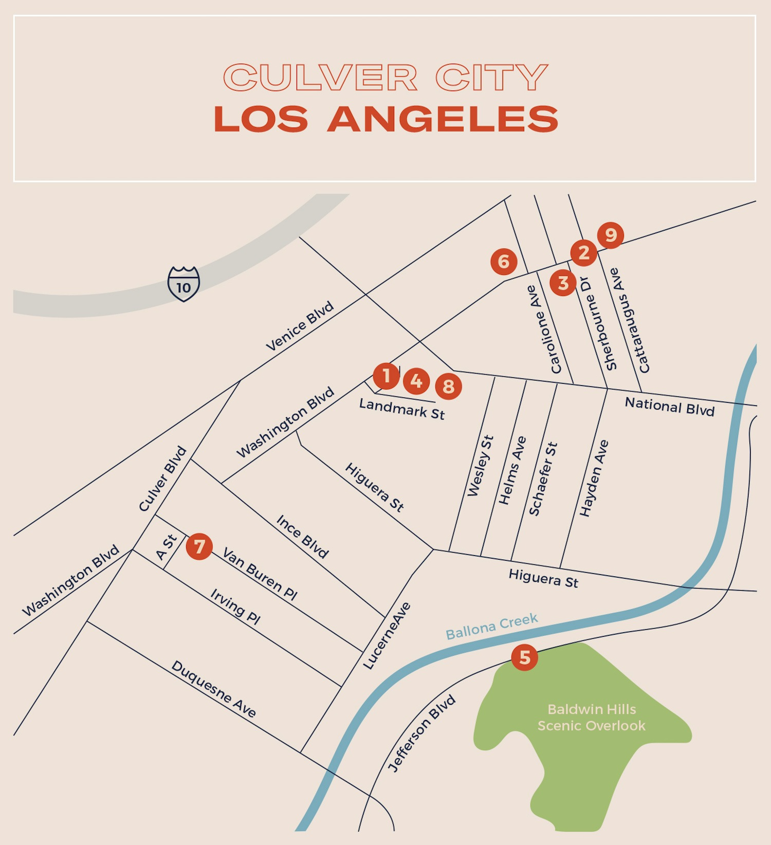 Culver City Los Angeles Map