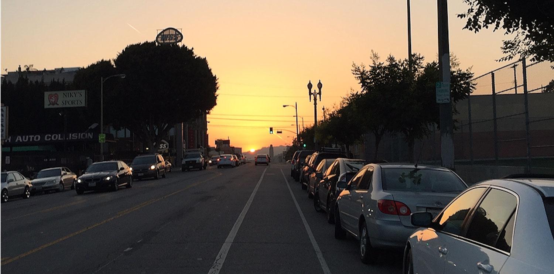 Los Angeles street bike lane