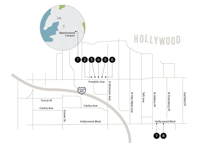 Hollywood map