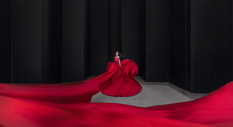 Betty Ma, Luxury Moment Photography, Red Dress, Fine-Art Photography, Dramatic, Red Dress Photo