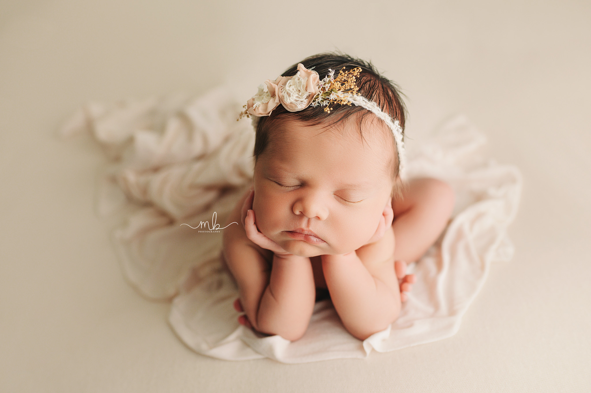 Melissa Berry, Melissa Berry Photography, Newborn, Newborn Photography, Girl Newborn, Flower Crown Newborn