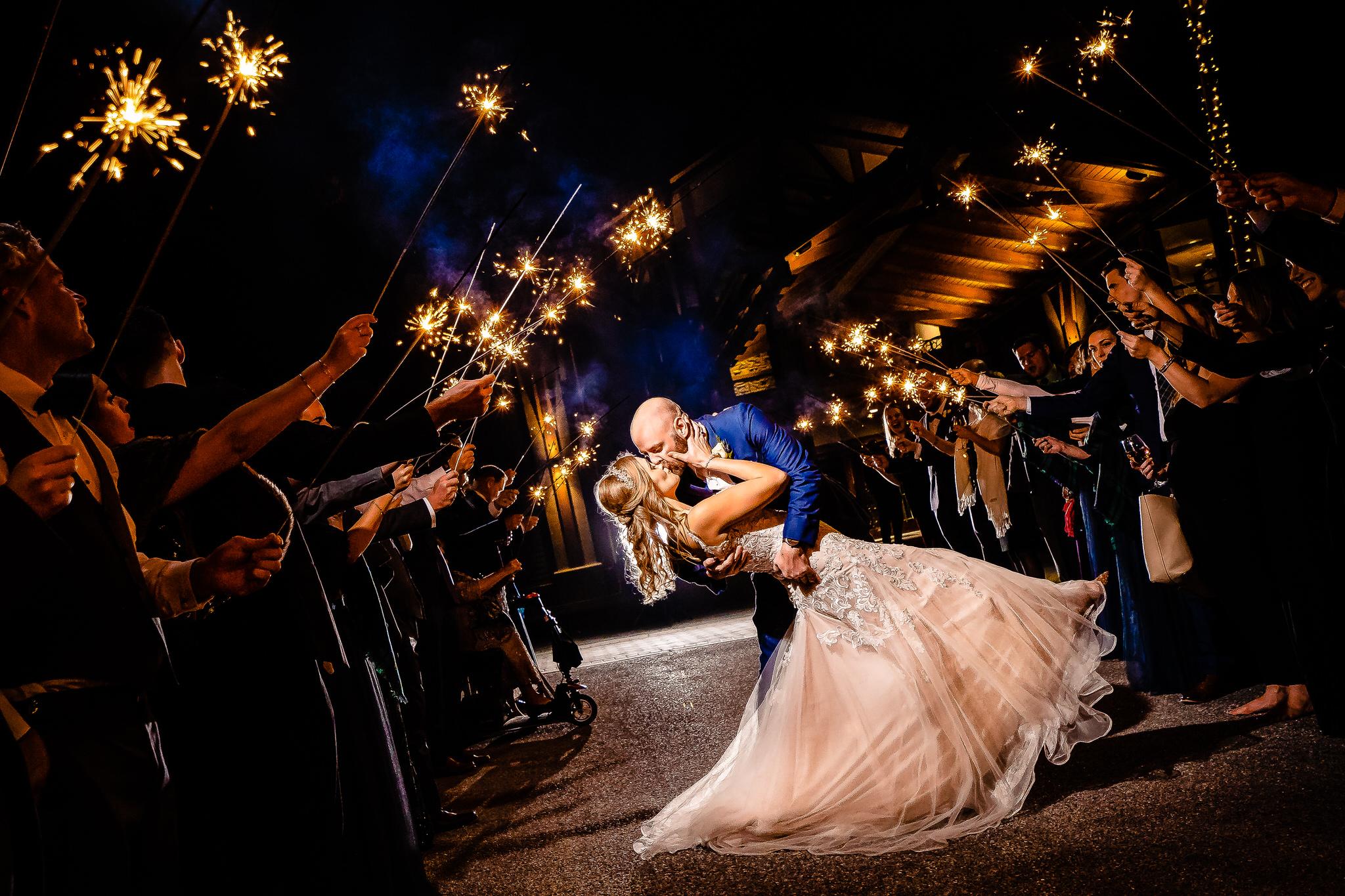 SMJ Photography, Wedding Photography, Wedding Sparkler Exit Photo, Wedding Couple Sparklers, Sparklers, Husband and Wife Wedding Photo, Wedding Sparklers