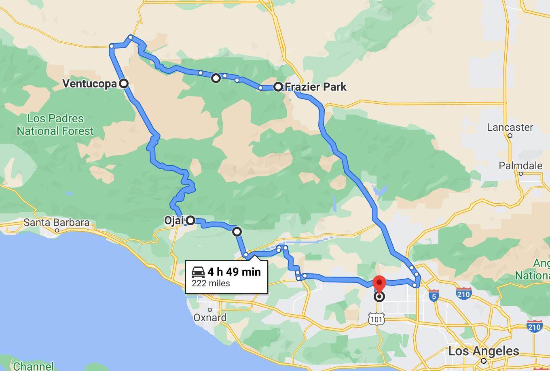Pine Mountain Run - Map