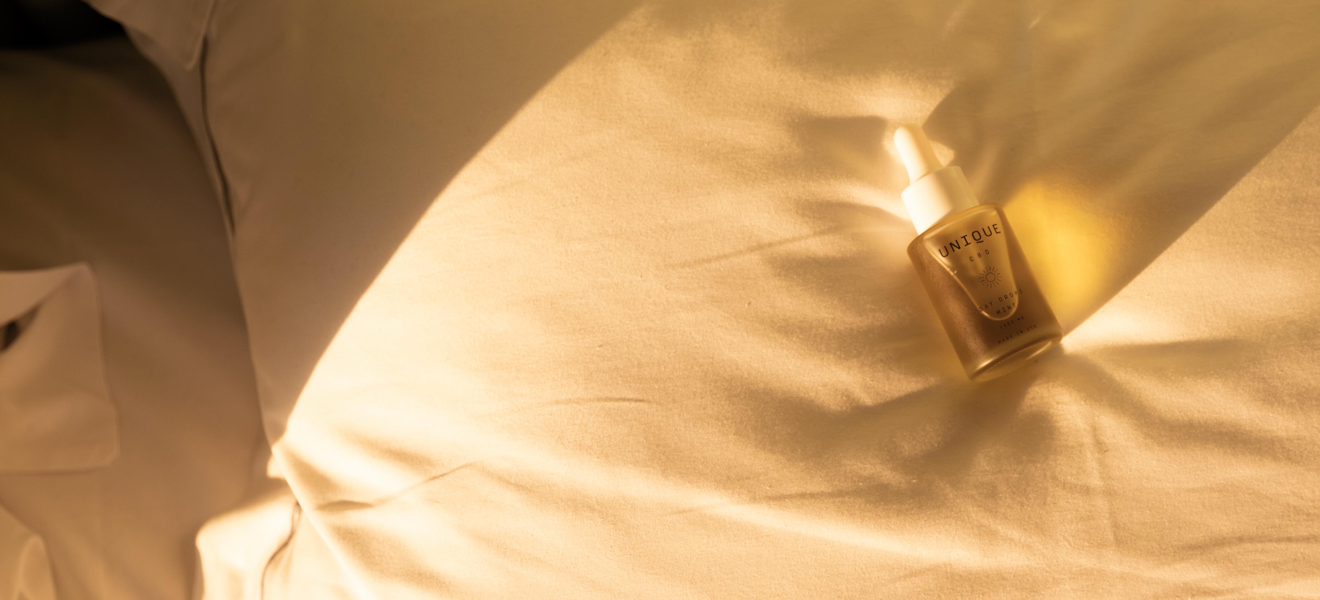 Bed duvet with CBD drops