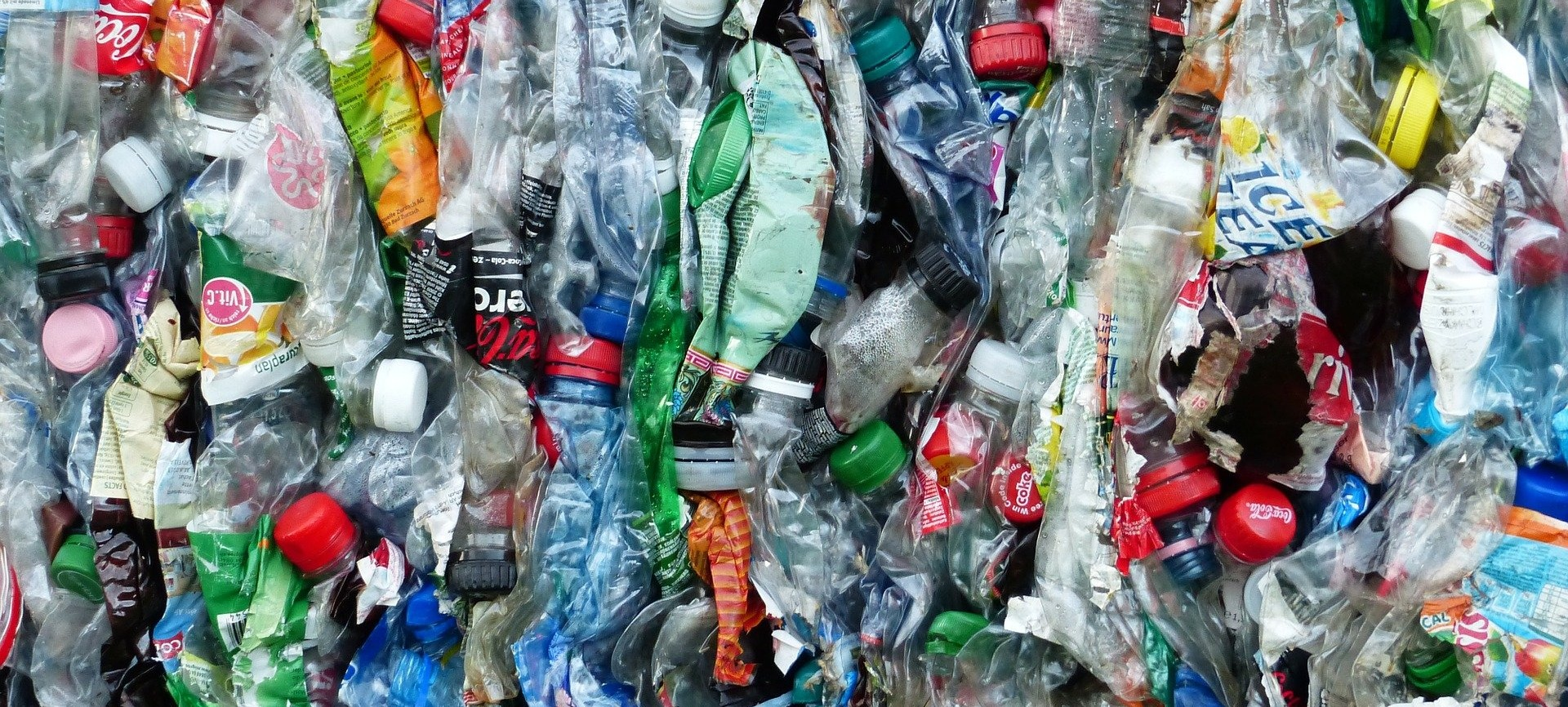 used plastic bottles in a pile