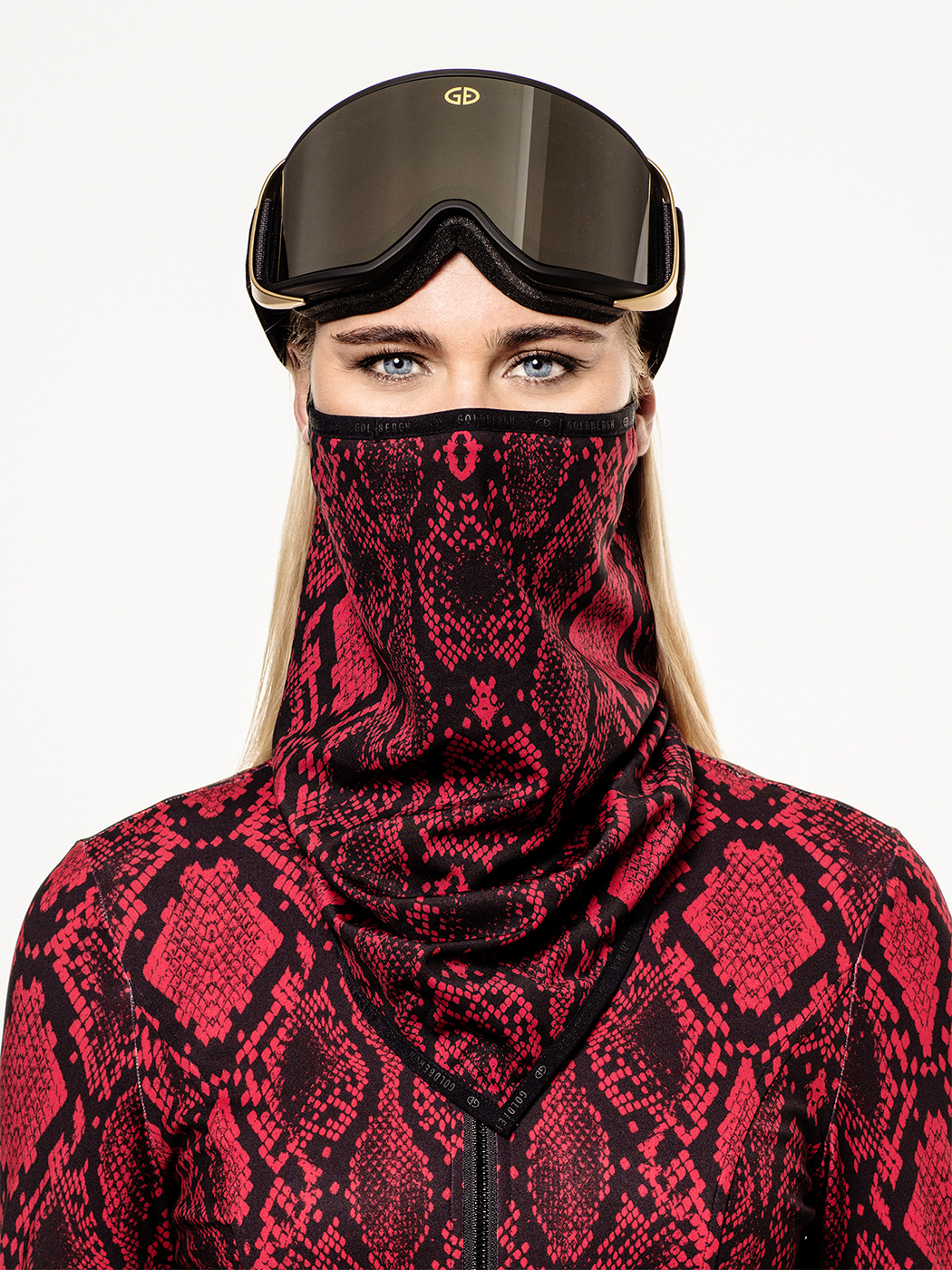 Marf facemask in red python